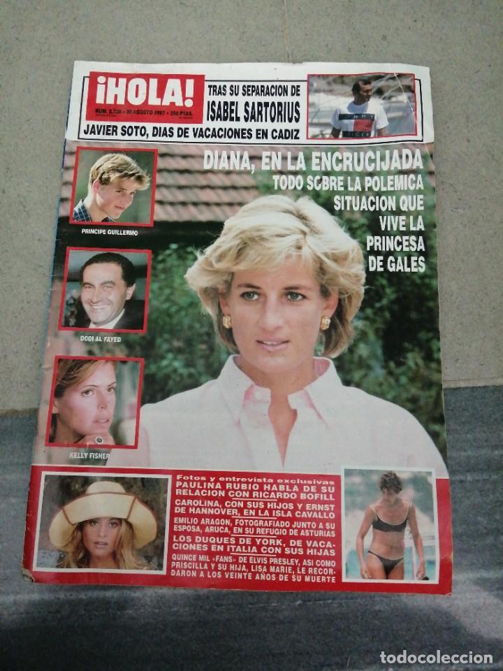 AÑO 1997 2768 SPICE GIRLS ELVIS PRESLEY JAVIER SOTO EMILIO ARAGON PAULINA RUBIO KIM BASINGER (Coleccionismo - Revistas y Periódicos Modernos (a partir de 1.940) - Revista Hola)