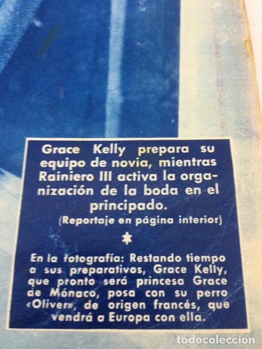 Coleccionismo de Revista Hola: ¡HOLA! - Nº 606 DEL 7 DE ABRIL DE 1956 - GRACE KELLY PREPARA SU EQUIPO DE NOVIA - ORGANIZACION BODA - Foto 2 - 245250570