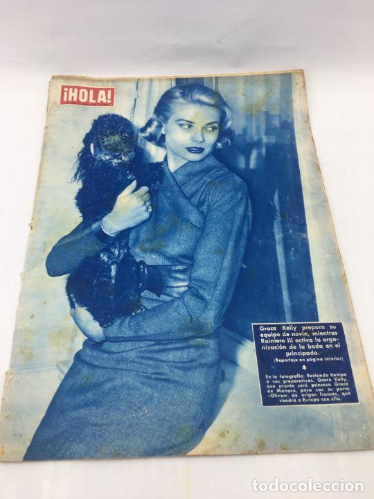 ¡HOLA! - Nº 606 DEL 7 DE ABRIL DE 1956 - GRACE KELLY PREPARA SU EQUIPO DE NOVIA - ORGANIZACION BODA (Coleccionismo - Revistas y Periódicos Modernos (a partir de 1.940) - Revista Hola)