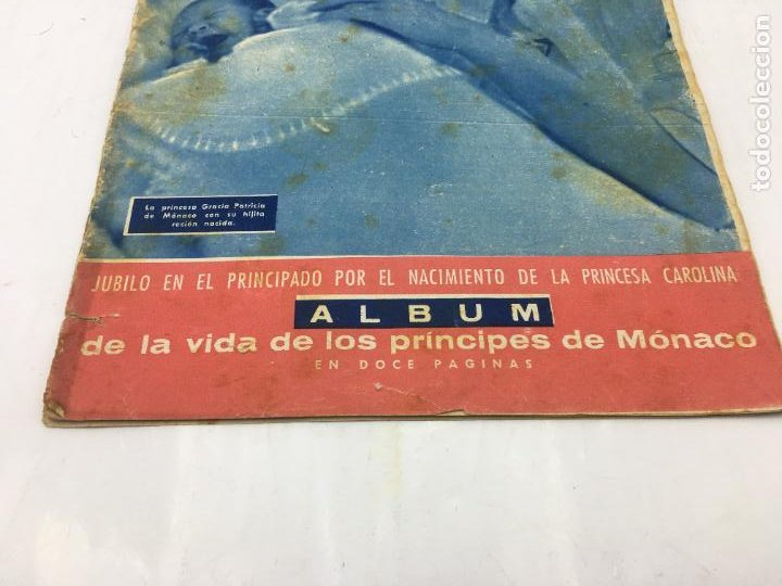 Coleccionismo de Revista Hola: ¡HOLA! - Nº 649 DEL 2 -02-1957 - NACIMIENTO DE PRINCESA CAROLINA DE MONACO - ALBUM DE LA VIDA DE LOS - Foto 3 - 245254085