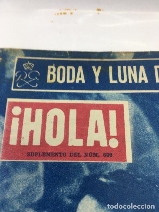 Coleccionismo de Revista Hola: ¡HOLA! - SUPLEMENTO DEL NUM. 608 - BODA Y LUNA DE MIEL DE RAINIERO III Y GRACE KELLY - Foto 2 - 245257010