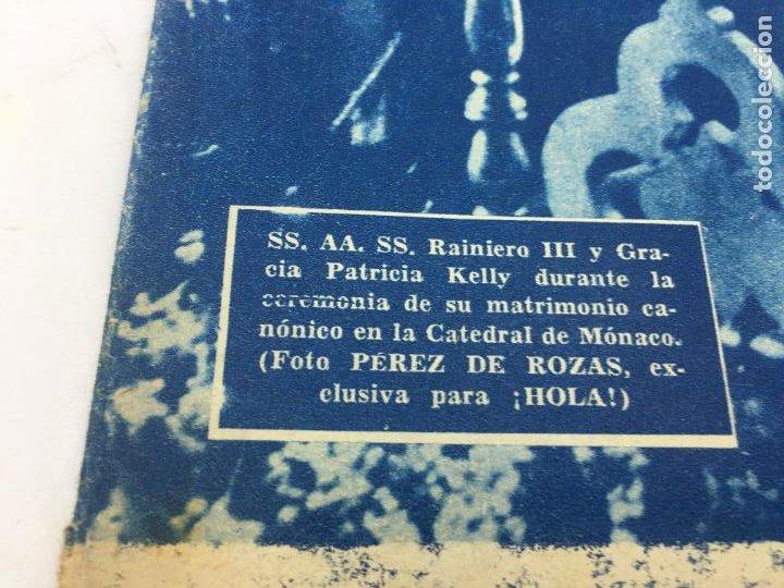 Coleccionismo de Revista Hola: ¡HOLA! - SUPLEMENTO DEL NUM. 608 - BODA Y LUNA DE MIEL DE RAINIERO III Y GRACE KELLY - Foto 5 - 245257010