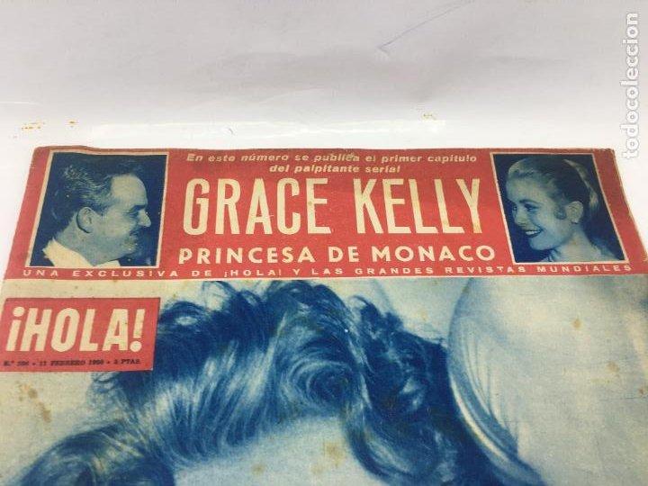 Coleccionismo de Revista Hola: ¡HOLA! - Nº 598 - 11 DE FEBRERO DE 1956 - PUBLICACION DEL PRIMER CAPITULO SERIAL GRACE KELLY PRINCES - Foto 2 - 245262885
