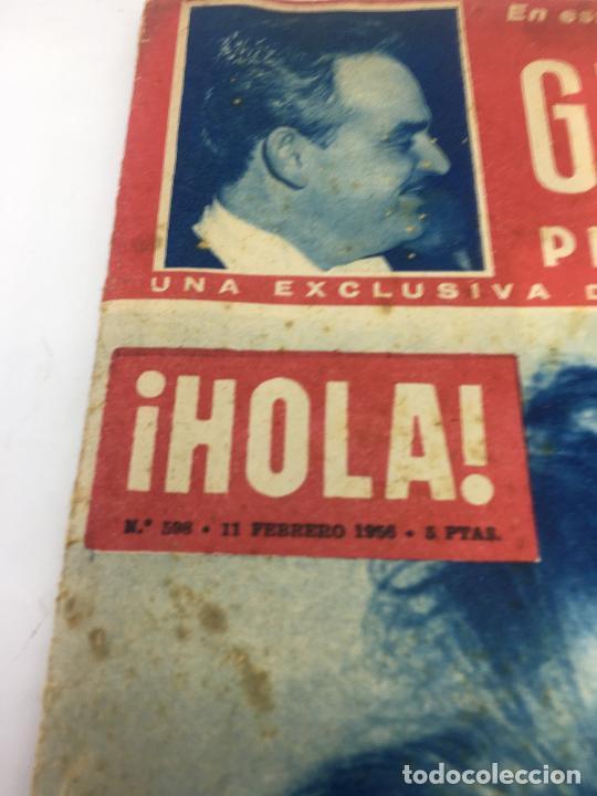 Coleccionismo de Revista Hola: ¡HOLA! - Nº 598 - 11 DE FEBRERO DE 1956 - PUBLICACION DEL PRIMER CAPITULO SERIAL GRACE KELLY PRINCES - Foto 3 - 245262885