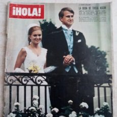 Coleccionismo de Revista Hola: HOLA 1.399 .BODA.TRICIA NIXON.CRISTINA DE BELGICA.IRONSIDE.BONANZA.ANA DE INGLATERRA AÑO 1971.ETC... Lote 245272465