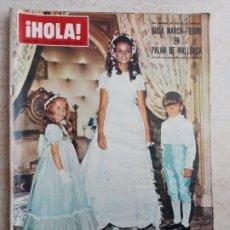 Coleccionismo de Revista Hola: HOLA 1.350 BODA MARCH-FIERRO.KENNEDY.MANSON.BODA IBICENCA. AÑO 1970 ETC... Lote 245275780