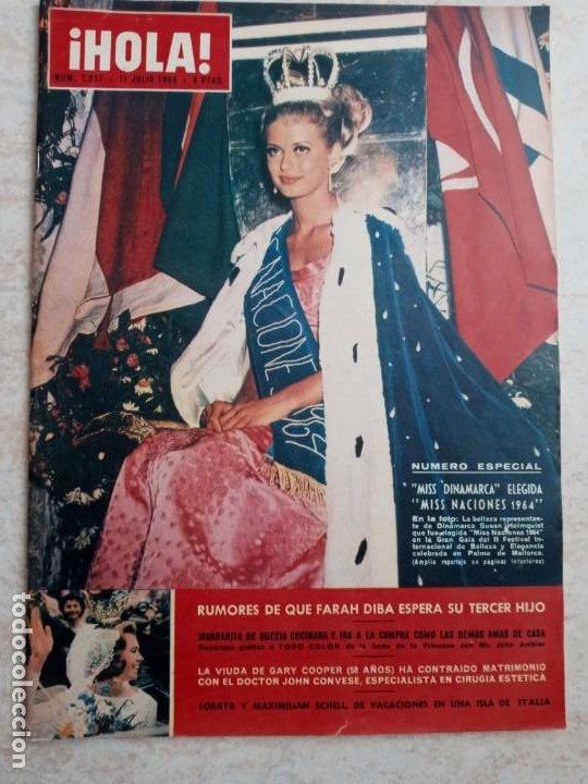 HOLA 1.037.MISS NACIONES 1964.FARAH DIBA.GARY COOPER.SORAYA.MARGARITA DE SUECIA.AÑO 1964.ETC.. (Coleccionismo - Revistas y Periódicos Modernos (a partir de 1.940) - Revista Hola)