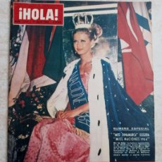 Coleccionismo de Revista Hola: HOLA 1.037.MISS NACIONES 1964.FARAH DIBA.GARY COOPER.SORAYA.MARGARITA DE SUECIA.AÑO 1964.ETC... Lote 245277075