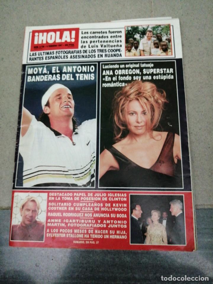 AÑO 1997 2739 RAQUEL RODRIGUEZ ANTONIO BANDERAS KEVIN COSTNER CARLOS MOYA ANA OBREGON DUQUESA YORK (Coleccionismo - Revistas y Periódicos Modernos (a partir de 1.940) - Revista Hola)