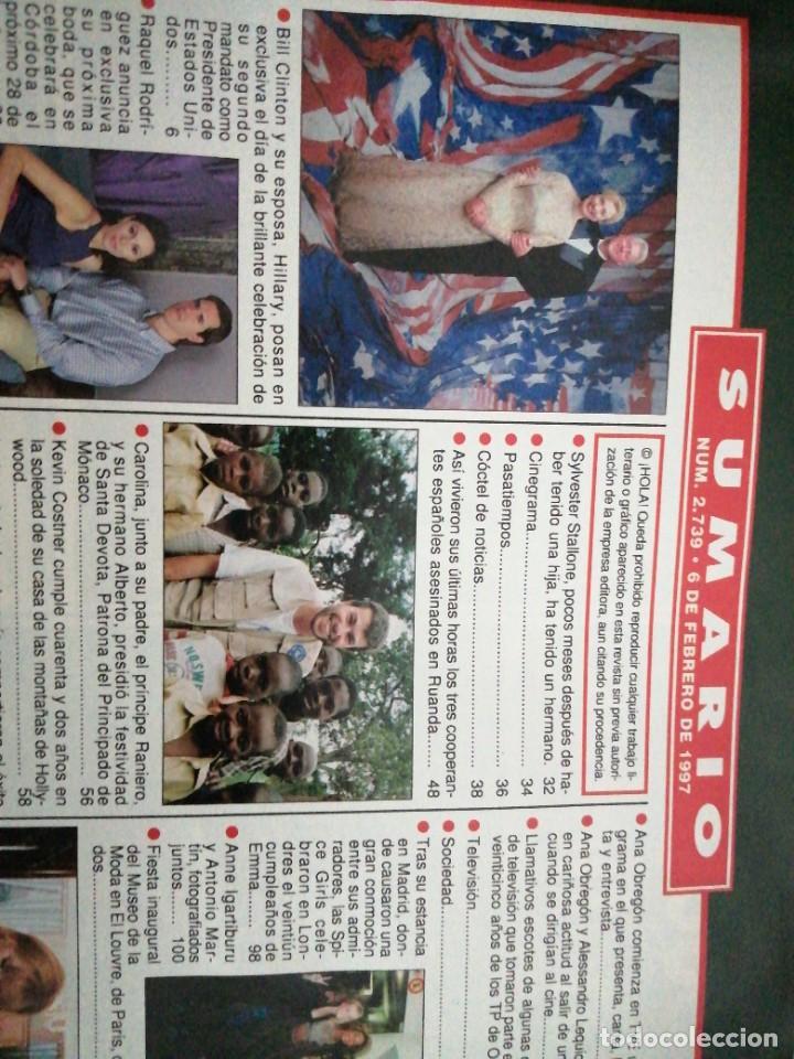 Coleccionismo de Revista Hola: Año 1997 2739 Raquel Rodriguez Antonio Banderas Kevin Costner Carlos Moya Ana Obregon Duquesa York - Foto 2 - 245355130