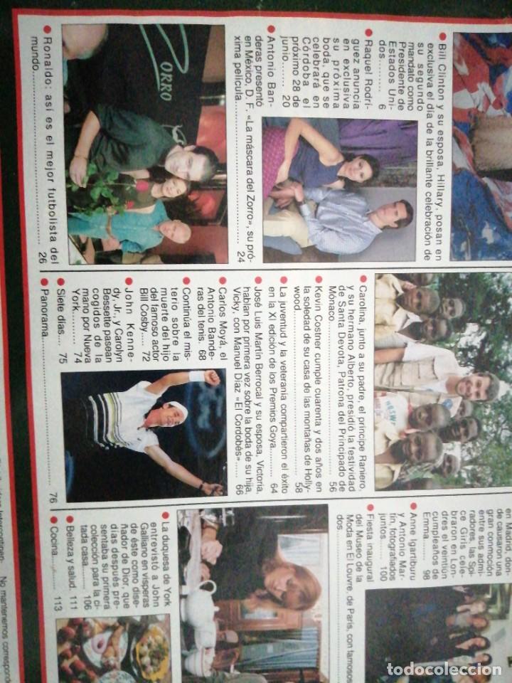 Coleccionismo de Revista Hola: Año 1997 2739 Raquel Rodriguez Antonio Banderas Kevin Costner Carlos Moya Ana Obregon Duquesa York - Foto 3 - 245355130