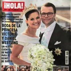 Coleccionismo de Revista Hola: REVISTA HOLA Nº 3439 - 30 DE JUNIO DE 2010 - BODA DE LA PRINCESA VICTORIA Y DANIEL WESTLING. Lote 245464895