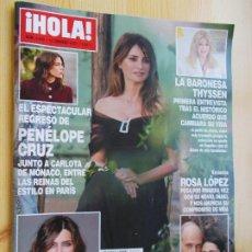 Coleccionismo de Revista Hola: REVISTA HOLA Nº 3.993 - AÑO 2021 - PENELOPE CRUZ Y CARLOTA JUNTAS EN MÓNACO-ROSA LÓPEZ-SARA CARBONER. Lote 245715085