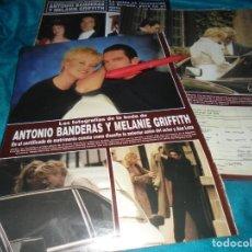 Coleccionismo de Revista Hola: RECORTE : FOTOS DE LA BODA DE ANTONIO BANDERAS Y MELANIE GRIFFITH. HOLA, MAYO 1996(#). Lote 246070375