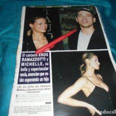 Coleccionismo de Revista Hola: RECORTE : EROS RAMAZZOTTI Y SU NOVIA. HOLA, MAYO 1996(#). Lote 246070650