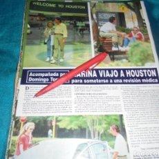 Coleccionismo de Revista Hola: RECORTE : KARINA VIAJA A HOUSTON CON DOMINGO TORROBA. HOLA, MAYO 1996(#). Lote 246071360