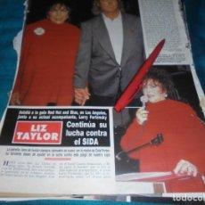 Coleccionismo de Revista Hola: RECORTE : LIZ TAYLOR, CONTINUA LUCHA CONTRA EL SIDA. HOLA, DCMBRE 1990(#). Lote 246114175