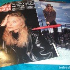 Coleccionismo de Revista Hola: RECORTE : MICHELLE PFEIFFER. HOLA, DCMBRE 1990(#). Lote 246114790
