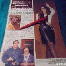 Coleccionismo de Revista Hola: RECORTE : MASSIEL, APARATOSO ACCIDENTE. HOLA, DCMBRE 1990(#). Lote 246114860