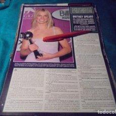 Coleccionismo de Revista Hola: RECORTE : BRITNEY SPEARS. HOLA, ABRIL 2000(#). Lote 246148120