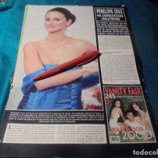 Coleccionismo de Revista Hola: RECORTE : PENELOPE CRUZ, HA CONQUISTADO HOLLYWOOD. HOLA, ABRIL 2000(#). Lote 246148440