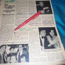 Coleccionismo de Revista Hola: RECORTE : BIBI ANDERSEN Y LUIS AGUILE. EL PAYASO GABY . HOLA, JUNIO 1978 (#). Lote 246466295