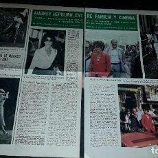 Coleccionismo de Revista Hola: AUDREY HEPBURN, ENTRE FAMILIA Y CINEMA. 2 FOLIOS REVISTA HOLA 2.8.1975.. Lote 246468020