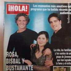 Collectionnisme de Magazine Hola: REVISTA HOLA Nº 3002. ROSA, BISBAL Y BUSTAMENTE, VENCEDORES DE OPERACIÓN TRIUNFO. FEBRERO DE 2002. Lote 247585905