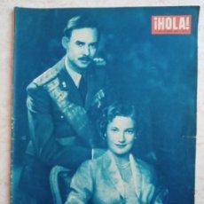 Coleccionismo de Revista Hola: HOLA. 450. AÑO 1953.BODA EN BELGICA.EL LITRI.RITA HAYWORTH.MODA CINE ETC... Lote 248042805