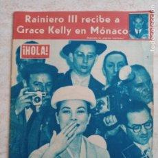 Collezionismo di Rivista Hola: HOLA. 607. AÑO 1956.GRACE KELLY EN ALGECIRAS.EL SHA .RAINIERO EN MONACO.TEATRO MODA CINE ETC... Lote 248044190