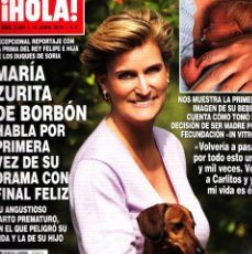 Coleccionismo de Revista Hola: REVISTA HOLA NUMERO 3854 MARÍA ZURITA DE BORBÓN. Lote 252079635