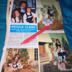 Collectionnisme de Magazine Hola: RECORTE : PETULA CLARK, NAVIDADES CON SUS HIJAS. HOLA, DCMBRE 1968 (#). Lote 252527180