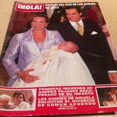 Coleccionismo de Revista Hola: REVISTA HOLA - N ° 2827 OCTUBRE 1998 - BAUTIZO DEL HIJO DE LOS DUQUES DE LUGO / ANDRES PAJARES. Lote 252840655