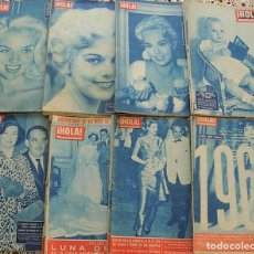 Collezionismo di Rivista Hola: LOTE DE 35 REVISTAS HOLA 1955-1962 EPOCA AZUL GRACE KELLY SORAYA PRINCESS MARGARET REALEZA BODAS. Lote 254021565