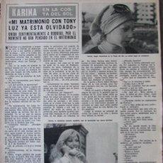 Coleccionismo de Revista Hola: RECORTE REVISTA HOLA 1691 1977 KARINA. Lote 254367845