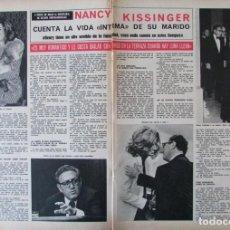 Coleccionismo de Revista Hola: RECORTE REVISTA HOLA 1691 1977 NANCY KISSINGER. Lote 254371170