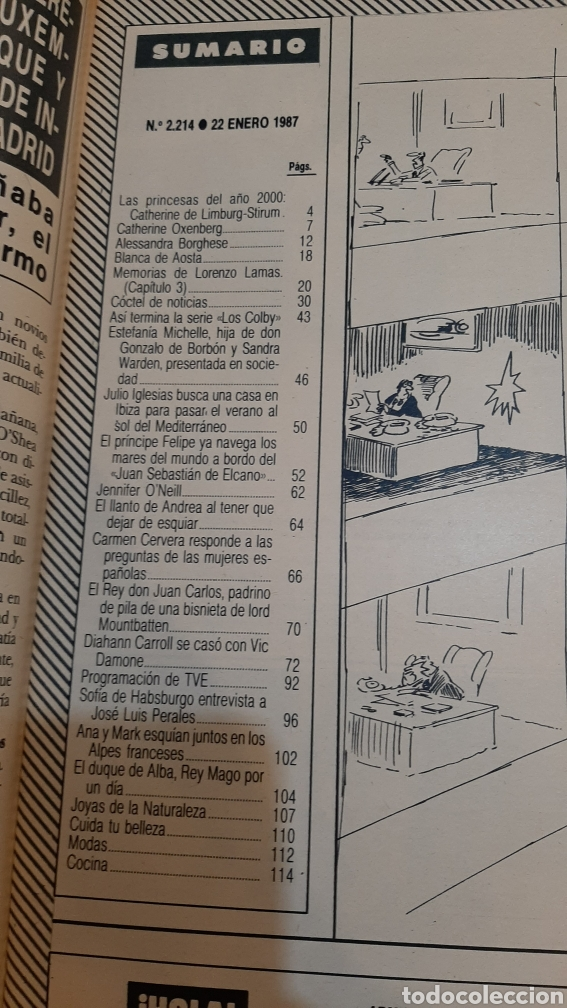 Coleccionismo de Revista Hola: HOLA 2214 1987 PRÍNCIPE FELIPE/ JULIO IGLESIAS/ LORENZO LAMAS/ BARONESA THYSSEN/JOSÉ PERALES - Foto 2 - 254429220