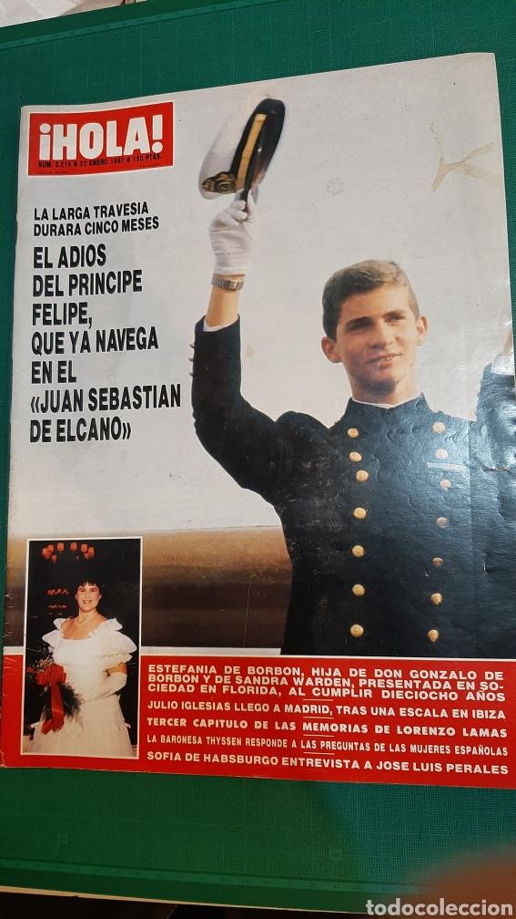 HOLA 2214 1987 PRÍNCIPE FELIPE/ JULIO IGLESIAS/ LORENZO LAMAS/ BARONESA THYSSEN/JOSÉ PERALES (Coleccionismo - Revistas y Periódicos Modernos (a partir de 1.940) - Revista Hola)