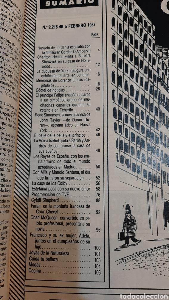 Coleccionismo de Revista Hola: GOLA 2216 1987 ESTEFANIA /MANOLO SANTANA/ REYES JORDANIA/BULTAGREÑO/DUQUESA YORK/ PRÍNCIPE FELIPE/ - Foto 2 - 254430295