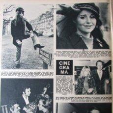 Coleccionismo de Revista Hola: RECORTE REVISTA HOLA N.º 1387 1971 OMAR SHARIF, PATRICIA ANGELI, SENTA BERGER. Lote 254767790