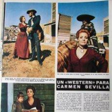 Coleccionismo de Revista Hola: RECORTE REVISTA HOLA N.º 1387 1971 CARMEN SEVILLA. Lote 254768735