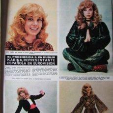 Coleccionismo de Revista Hola: RECORTE REVISTA HOLA N.º 1387 1971 KARINA. Lote 254793305