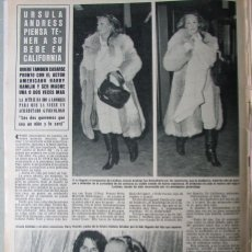 Coleccionismo de Revista Hola: RECORTE REVISTA HOLA N.º 1850 1980 URSULA ANDRESS. Lote 254801190