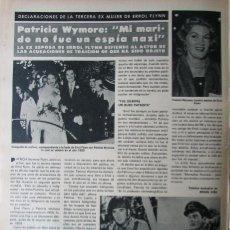 Coleccionismo de Revista Hola: RECORTE REVISTA HOLA N.º 1850 1980 PATRICIA WYMORE. Lote 254801290