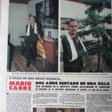 Coleccionismo de Revista Hola: RECORTE REVISTA HOLA N.º 1847 1980 MARIO CABRÉ, SHERRY LANSING. Lote 254807805