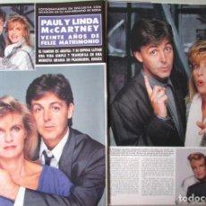 Coleccionismo de Revista Hola: RECORTE REVISTA HOLA N.º 2330 1989 PAUL Y LINDA MCCARTNEY 3 PGS. Lote 255658470
