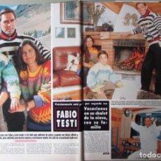 Collezionismo di Rivista Hola: RECORTE REVISTA HOLA N.º 2330 1989 FABIO TESTI. URSULA ANDRESS 7 PGS. Lote 255658645