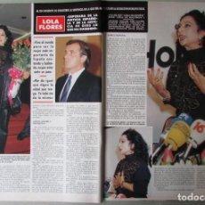 Coleccionismo de Revista Hola: RECORTE REVISTA HOLA N.º 2330 1989 LOLA FLORES 5 PGS. Lote 255658790