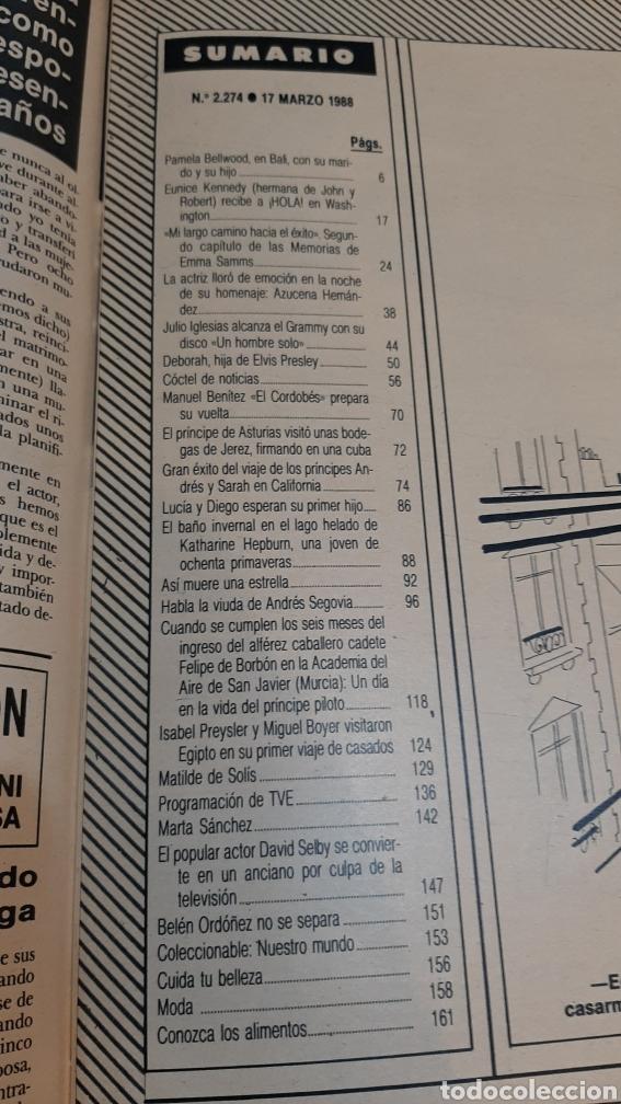 Coleccionismo de Revista Hola: HOLA 2274 AÑO 1988 CAMILO SESTO DEMANDO/ DUQUWSA YIRK/ JULIO IGLESIAS GRAMMY/ MIGUEL BOYER /SUMARIO - Foto 7 - 256015635