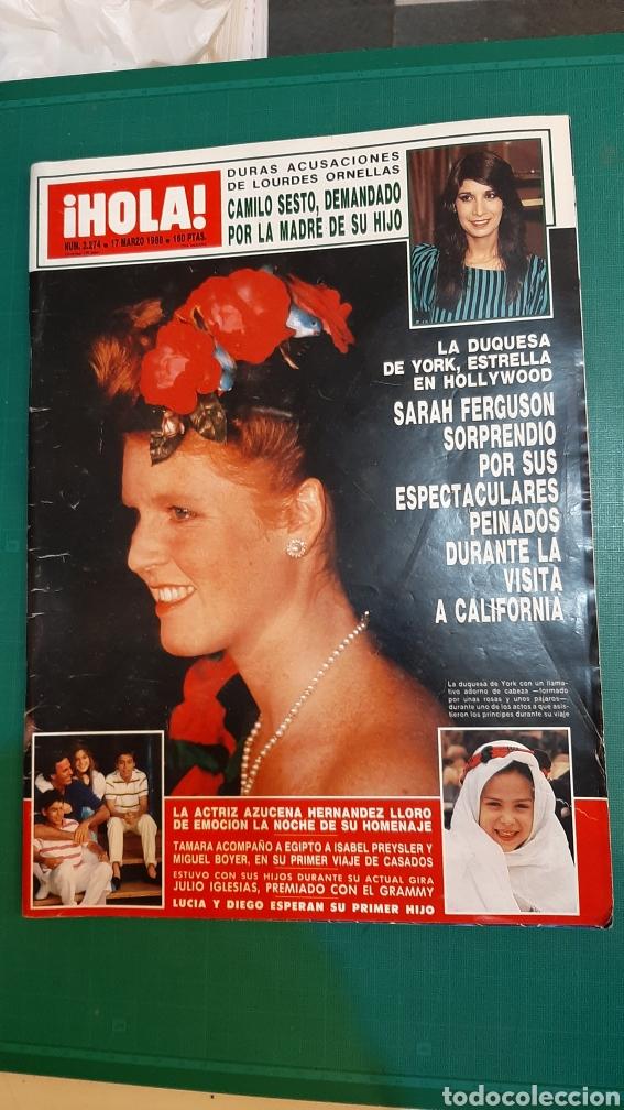HOLA 2274 AÑO 1988 CAMILO SESTO DEMANDO/ DUQUWSA YIRK/ JULIO IGLESIAS GRAMMY/ MIGUEL BOYER /SUMARIO (Coleccionismo - Revistas y Periódicos Modernos (a partir de 1.940) - Revista Hola)